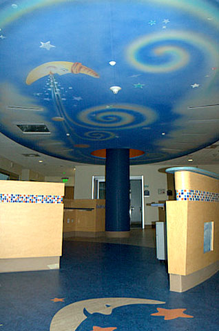 Rady's NICU ceiling mural