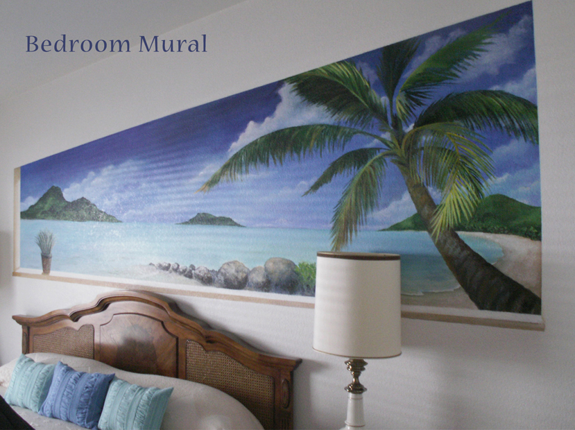 Wall murals studio 2 artists for Beach mural bedroom