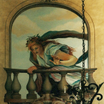 Trompe-LOeil-mural-above-circular-entry