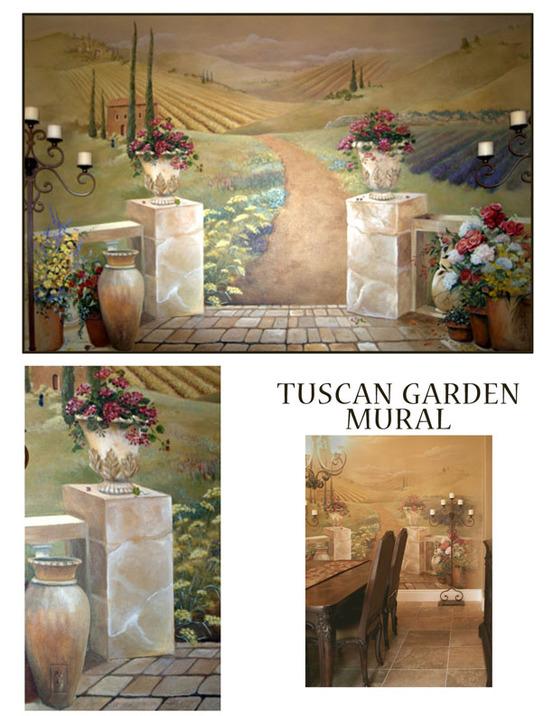 Tuscany Garden Mural